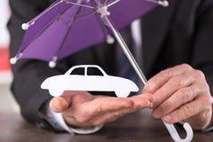Concepto de seguro de coche Imagen de archivo