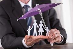 Concepto de seguro de la familia Imagen de archivo libre de regalías