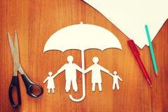 Concepto de seguro de vida Fotos de archivo libres de regalías