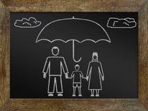 Concepto de seguro de vida Imagen de archivo libre de regalías
