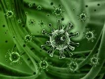 Concepto de SEM del virus foto de archivo