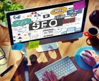 Concepto de SEO Content Search Engine Optimization Imagen de archivo libre de regalías