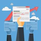 Concepto de SEO Idea de la optimización del Search Engine para la página web libre illustration