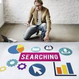 Concepto de SEO Search Engine Optimization Searching Fotos de archivo