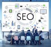 Concepto de SEO Search Technology Business Webpage Imagen de archivo