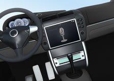 Concepto de sistema auxiliar de la voz elegante del coche Fotografía de archivo libre de regalías