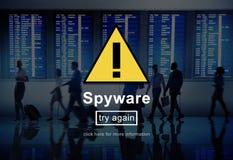 Concepto de sistema de seguridad del firewall network del virus del Spyware Fotos de archivo libres de regalías