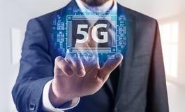 concepto de sistemas inalámbricos de la red 5G Imagenes de archivo