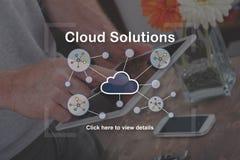 Concepto de soluciones de la nube Foto de archivo