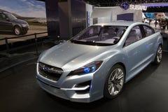 Concepto de Subaru Impreza - demostración de motor de Ginebra 2011 Imagen de archivo