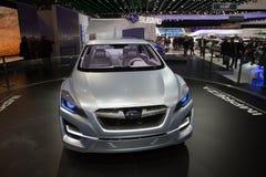 Concepto de Subaru Impreza - demostración de motor de Ginebra 2011 Fotos de archivo libres de regalías
