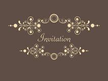 Concepto de tarjeta hermosa de la invitación libre illustration