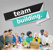 Concepto de Team Building Cooperate Cooperation Management Imagenes de archivo
