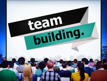 Concepto de Team Building Cooperate Cooperation Management Fotos de archivo