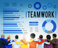 Concepto de Team Corporate Teamwork Collaboration Assistance Foto de archivo