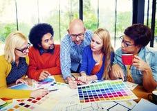 Concepto de Team Creative Occupation Working Planning de los diseñadores Imagen de archivo