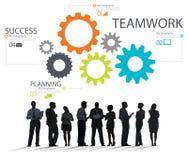 Concepto de Team Group Gear Partnership Cooperation del trabajo en equipo Fotos de archivo libres de regalías