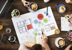 Concepto de Team Meeting Brainstorming Planning Analysing imagen de archivo libre de regalías