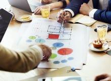 Concepto de Team Meeting Brainstorming Planning Analysing fotos de archivo libres de regalías