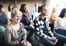 Concepto de Team Seminar Listening Corporate Conference Foto de archivo