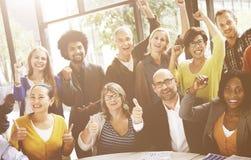 Concepto de Team Success Achievement Arm Raised del negocio Imagenes de archivo