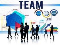 Concepto de Team Teamwork Corporate Partnership Cooperation Fotografía de archivo