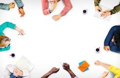 Concepto de Team Teamwork Discussion Meeting Planning imágenes de archivo libres de regalías