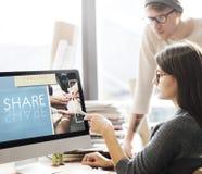 Concepto de Team Teamwork Help Share Contribute imagen de archivo libre de regalías