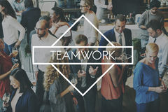 Concepto de Team Teamwork Teambuilding Synergy Empower fotos de archivo