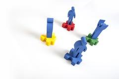 Concepto de trabajo en equipo, de gente y de iconos Imágenes de archivo libres de regalías