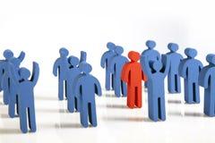 Concepto de trabajo en equipo, de gente y de iconos Imagenes de archivo