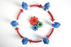 Concepto de trabajo en equipo, de gente y de iconos Imagen de archivo libre de regalías