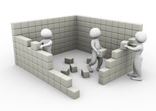Concepto de trabajo y de construcción de las personas ilustración del vector
