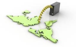 Concepto de transferencia de los datos Fotografía de archivo