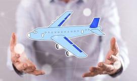 Concepto de transporte aéreo Fotos de archivo