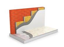Concepto de un hogar caliente Calefacción por el suelo libre illustration