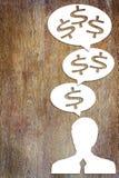 Concepto de un pensamiento en crecimiento de la renta Fotografía de archivo libre de regalías