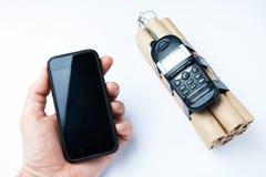 Concepto de una bomba en un fondo blanco fotografía de archivo libre de regalías