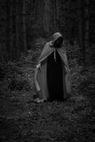 Concepto de Víspera de Todos los Santos Una bruja en un traje fotografía de archivo
