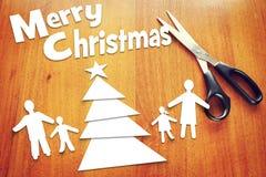 Concepto de vacaciones de invierno para la familia Imagen de archivo libre de regalías