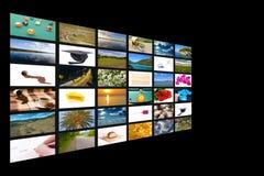 Concepto de varios canales de la televisión imagen de archivo libre de regalías