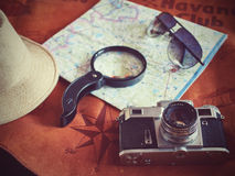 Concepto de viajar del viajero del viaje Fotos de archivo