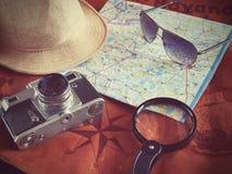 Concepto de viajar del viajero del viaje Imagenes de archivo