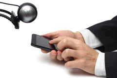 Concepto de vigilancia del teléfono móvil Fotos de archivo