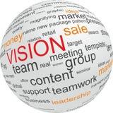 Concepto de visión en asunto Foto de archivo libre de regalías