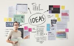 Concepto de Vision de la estrategia de la oferta de la misión del concepto de las ideas Foto de archivo libre de regalías