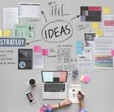 Concepto de Vision de la estrategia de la oferta de la misión del concepto de las ideas Imagen de archivo libre de regalías