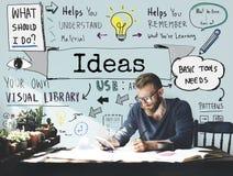 Concepto de Vision de la estrategia de la oferta del plan de la misión del diseño de las ideas Fotos de archivo
