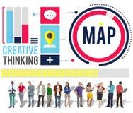 Concepto de Vision de la solución del márketing del plan de la información de datos de la estrategia foto de archivo