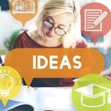 Concepto de Vision de la sugerencia de la estrategia del asunto de las ideas Imágenes de archivo libres de regalías